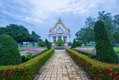 Vihara van Phutthamonthon in de avond Phutthamonthon is een Boeddhistisch park in Phutthamonthon-district, de Provincie van Nakho Stock Afbeeldingen
