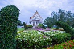Vihara van Phutthamonthon in de avond Phutthamonthon is een Boeddhistisch park in Phutthamonthon-district, de Provincie van Nakho Royalty-vrije Stock Afbeelding