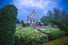 Vihara von Phutthamonthon am Abend, Nakhon Pathom, Thailand Stockbild