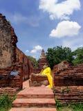Viharaen av att vila Buddha i Ayutthaya royaltyfri foto