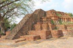 Viharn皮带寺庙的塔 免版税图库摄影