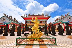 Viharnra Sien. Chonburi (near Pattaya) , thailand :  is both a Chinese temple and a museum and In the main building and pavilions, or have a closer look ad a royalty free stock photo