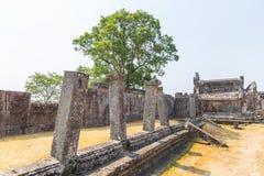 vihear preah的寺庙 库存照片