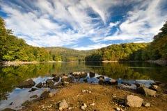 Vihorlat Mountains. Big pond in Vihorlat Mountains, Slovakia Royalty Free Stock Images