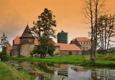 Vihov del castello Ådell'acqua Immagini Stock