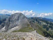Vihren peak from Kutelo in Pirin National Park. royalty free stock images