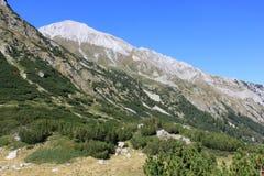 Vihren Peak. A view of Vihren peak high in the Pirin mountains, Bulgaria Stock Photography
