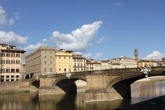 Viiew της Φλωρεντίας από τον ποταμό Arno Στοκ εικόνα με δικαίωμα ελεύθερης χρήσης