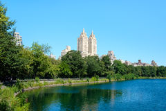 Viiew of Central Park in New York with the Jacqueline Kennedy re Royalty Free Stock Photography