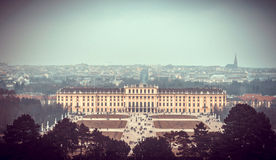 Viiew of famous Schonbrunn Palace Royalty Free Stock Photo