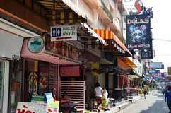 Viiew of Soi 6 in Pattaya.Thailand Royalty Free Stock Photography