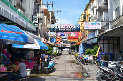 Viiew of  Street in Pattaya.Thailand Royalty Free Stock Photography