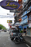 Viiew of  Street in Pattaya.Thailand Stock Photos