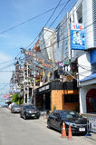 Viiew of  Street in Pattaya.Thailand Royalty Free Stock Photo