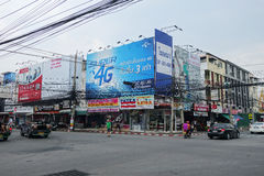 Viiew of Street in Pattaya.Thailand Royalty Free Stock Image