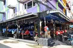 Viiew of Walking Street in Pattaya.Thailand Royalty Free Stock Images