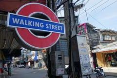 Viiew of Walking Street in Pattaya.Thailand Stock Image