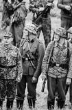 Soldiers black and white Royalty Free Stock Image