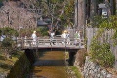 Viisitors Giappone di Koyasan fotografia stock