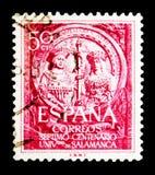 VIIth-Jahrhundert - Universität von Salamanca, Universitäten, Schulen Stockfotografie