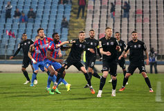 Viitorul Constanta playing against Steaua Bucuresti Stock Photo