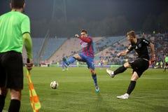Viitorul Constanta playing against Steaua Bucuresti Royalty Free Stock Photography
