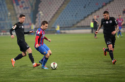 Viitorul Constanta playing against Steaua Bucuresti Stock Images