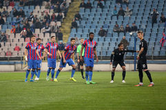 Viitorul Constanta playing against Steaua Bucuresti Royalty Free Stock Images