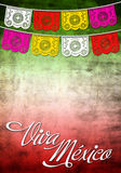 Viiva Mexico poster - Card template. Mexican-themed poster with the title in Spanish Stock Photo