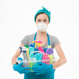 Vijandige schoonmakende producten Royalty-vrije Stock Foto's
