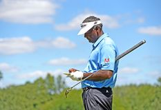 Vijay Singh at the second round of the Barclays held in Edison,NJ Aug. 28,2015 royalty free stock photography