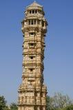 Vijay Stambkh, victorias de una torre en un fuerte Chittorgarkh la India Imágenes de archivo libres de regalías