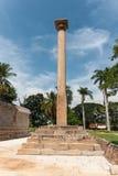 Vijaya Lamp Pole au temple de Chennakesava, Inde de Somanathpur Image libre de droits