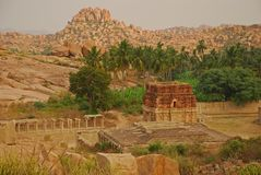 Vijayanagar, India. Ruins Royalty Free Stock Photography