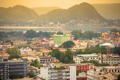 Vijayawada city in twillight Royalty Free Stock Photography