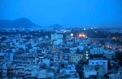 Vijayawada en noche Fotografía de archivo