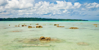 Vijaynagar Beach in Havelock Island royalty free stock photos