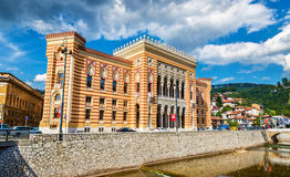 Vijecnica (city hall) in Sarajevo Stock Photography