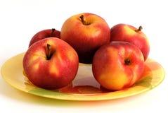 Vijf appelen Stock Foto's