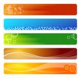 Vijf banners royalty-vrije illustratie
