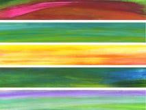Vijf banners Stock Foto's