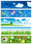 Vijf banners van zomer Stock Afbeelding