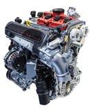 Vijf cilindermotor van een auto Stock Afbeeldingen