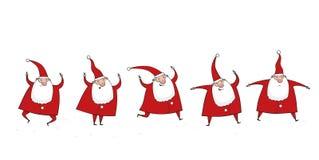 Vijf Clausules van de Kerstman Stock Foto's