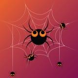 Vijf dansende spinnen Royalty-vrije Illustratie
