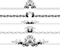 Vijf decoratieve grenzen Royalty-vrije Stock Afbeelding