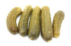 Vijf dillegroenten in het zuur Stock Foto