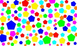 Vijf-dimensionaal kleurrijk, Abstract art. als achtergrond Royalty-vrije Stock Foto
