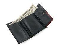 Vijf dollarrekening in een portefeuille Royalty-vrije Stock Afbeelding