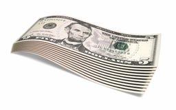 Vijf dollarsbankbiljetten stock illustratie